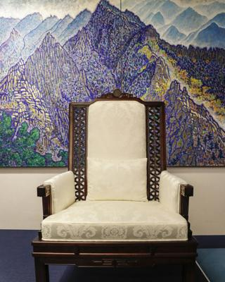 Chair and painting in summit room