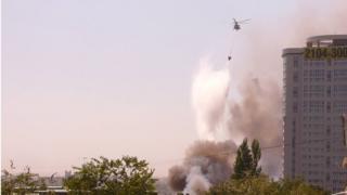 тушение пожара в Ростове