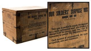 British soldiers' surprise box – WW1