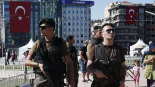 Special forces police in Taksim Square (21 July)
