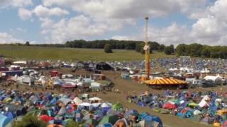BoomTown Fair campsite