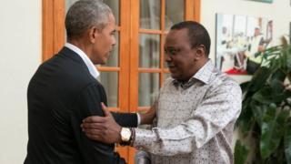 Uhuru Kenyatta na Bw Obama Ikulu, Nairobi