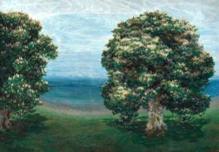 Blooming Chestnut Trees, by Emilie Mediz-Pelikan (1900)