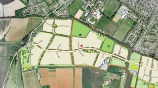 A section of the masterplan for the site