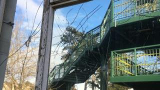 Smashed windows at Child First in Bicester