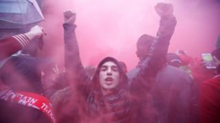 Liverpool ile Roma'nın karşı karşıya geldiği Nisan'da taraftarlar arasında olaylar çıkmıştı.