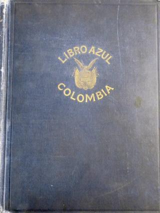 """Portada de el """"Libro azul de Colombia"""", de 1918."""