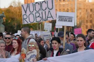 Anti-government protest in Belgrade
