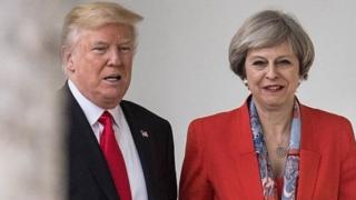Rais Trump na waziri mkuu nchini Uingereza Theresa May