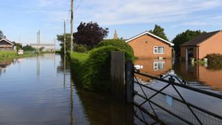 Flooded home in Wainfleet
