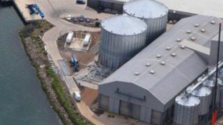 Angus Cereals storage facility at Montrose Harbour