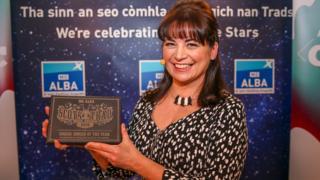 Mary Ann Kennedy won the Gaelic Singer of the Year Award