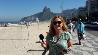 Kirsty Lang on Ipanema Beach