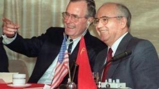 Жорж Буш ва Михаил Горбачёв