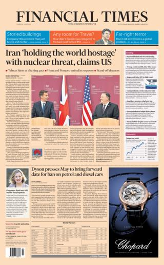 The Financial Times front page 09/05/19