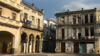 View of houses in Old Havana