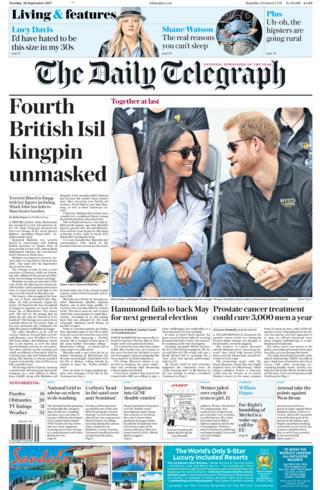 Telegraph front - 26/9/17