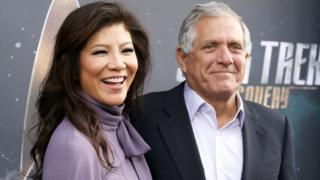 Moonves and his wife, CBS host Julie Chen