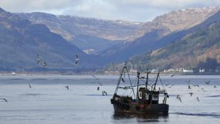 Fishing boat on Holy Loch