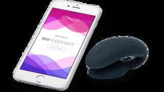 The We-Connect app on a mobile phone, with the We-Vibe sex toy