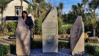 Ruth McQuillan-Wilson at the Summerland memorial