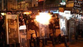Police fire tear gas
