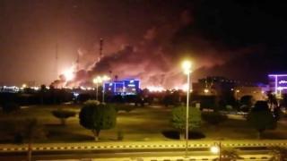Kebakaran fasilitas pengolahan minyak Arab Saudi di Abqaid