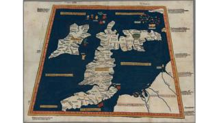 One of the earliest surviving copies of Ptolemy's 2nd Century map of the British Isles