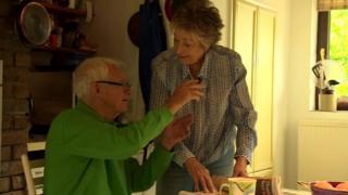 David Parry-Jones and his partner Beti George