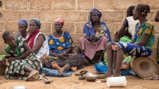 Des femmes déplacées du nord du Burkina Faso, le 13 juin 2019 à Ouagadougou
