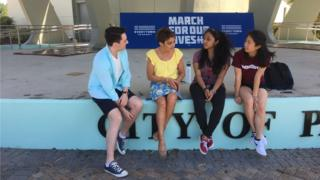 Jack and Emma Crozier with Nikhita Nookola and Christy Ma