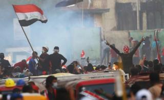Protests in Iraq on Friday