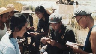 1971年农村田边学毛选