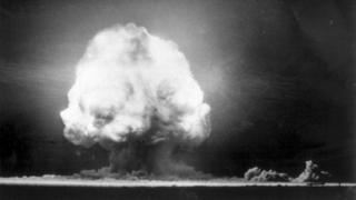The first nuclear test in New Mexico, July 1945