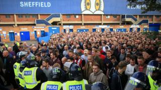 Sheffield United fans were held back after last year's Steel City Derby at Hillsborough