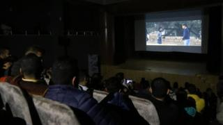Screening of a movie in Gaza