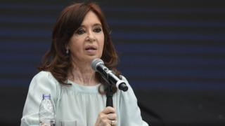 Cristina Kirchner speaking in November 2018