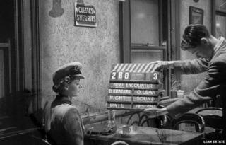 Celia Johnson filming Brief Encounter
