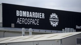 Bombardier Aerospace factory in Belfast