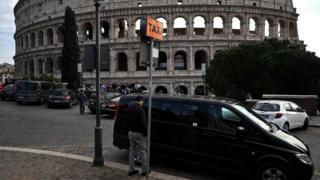 Roma'da taksi