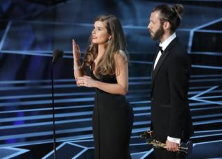 Rachel Shenton, with Chris Overton