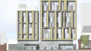 An artist's impression of the planned seven-storey student housing scheme in Dublin's north inner city