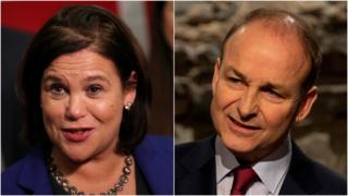 Mary Lou McDonald and Michéal Martin
