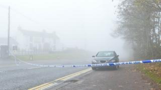 The man was walking on the Ballyrobin Road at Aldergrove when the collision took place