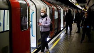 Commuter on Tube