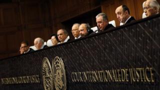 Los jueces de la CIJ
