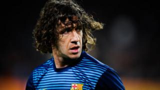 Former footballer Carles Puyol plays for FC Barcelona.