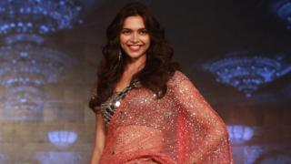 Bollywood actress Deepika Padukone at a promotional event for her film Happy New Year in Mumbai, India, 14 August 2014