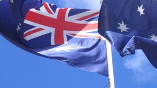 An Australian flag
