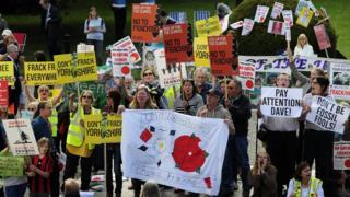 Anti-fracking campiagners